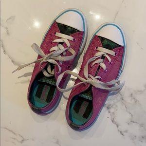 Converse girls' glitter sneakers, size 1.5